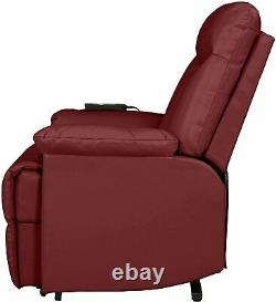 Electric Lift Chair Recliner Leather Power Motion Lounge Seat Medical Burgundy