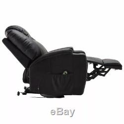 Electric Lift Power Recliner Chair Heated Massage Sofa Lounge With Remote Control