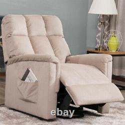 Electric Lift Power Recliner Chair Living Room Massage Sofa Lounge Pink US