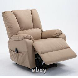 Electric Lift Recliner Power Sofa Chair Sleeper Bed Armchair Wide Seat Elederly