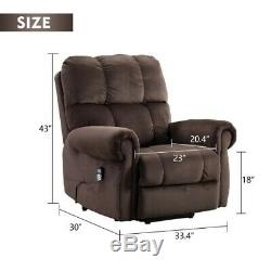 Electric Massage Sofa Chair Recliner Power Lift Armchair Lounge Heated Deluxe