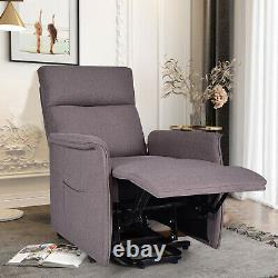 Electric Power Fabric Padded Lift Massage Chair Recliner Sofa
