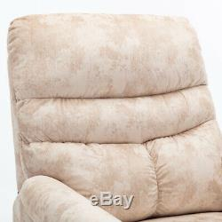 Electric Power Lift Assist Recliner Chair Soft and Warm Fabric Sofa With Remote
