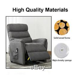 Electric Power Lift Assist Recliner Chair Vibration Massage Heat Remote Control