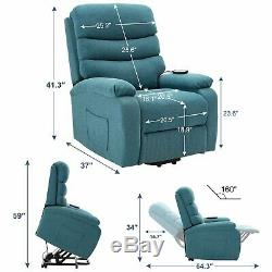 Electric Power Lift Chair Living Room Chair Motorized Single Sofa with Massage