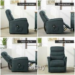 Electric Power Lift Chair Massage Sofa Recliner Heated Vibration Living Room New