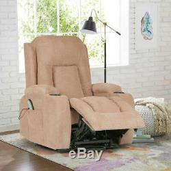 Electric Power Lift Chair Recliner Fabric Sofa with Remote Control Living Room