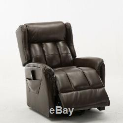 Electric Power Lift Chair Recliner Leather Armchair Large Recling Lounge Sofa