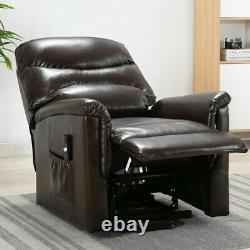 Electric Power Lift Chair Recliner Leather Sofa Reclining Heavy Duty Armchair US