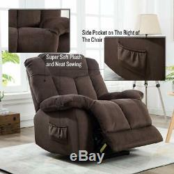 Electric Power Lift Chair Recliner Oversized Armchair Sofa for Elderly Bedroom
