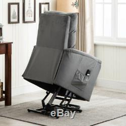 Electric Power Lift Chair Recliner Single Sofa Lounge Seat Home Theater Elderly