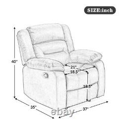 Electric Power Lift Chair Recliner Sofa with Massage Heat Vibration for Elderly