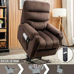 Electric Power Lift Chair Recliner for Elderly withRC Overstuffed Reclining Sofa
