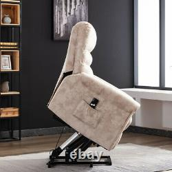 Electric Power Lift Chair Sofa Recliner Living Room Soft Seat Assist for Elderly