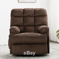 Electric Power Lift Chair Sofa Recliner Oversized Fabric Seat Home Living Room