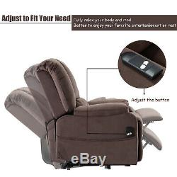 Electric Power Lift Chair for Elderly Living Room Fabric Lounge Sofa with Remote