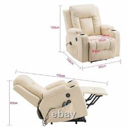 Electric Power Lift Full Body Massage Chair Recliner Zero Gravity Lounge Heating