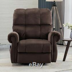 Electric Power Lift Massage Chair Fabric Recliner Heat Vibration Lounge Chair