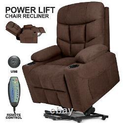 Electric Power Lift Massage Recliner Chair Armchair Vibration Heat USB Control