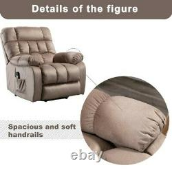 Electric Power Lift Massage Recliner Chair Backrest Padded Seat Soft Seat Single