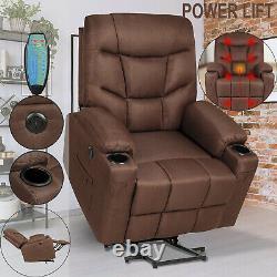 Electric Power Lift Massage Recliner Chair Heat Vibration USB Control Elderly US