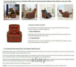 Electric Power Lift Massage Recliner Chair Heat Vibration USB Remote Elderly USA