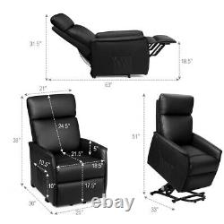 Electric Power Lift Massage Sofa Recliner Vibrating Chair Black