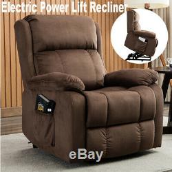 Electric Power Lift Recliner Armchair Elderly Lounge Seat Sofa Living Room Chair