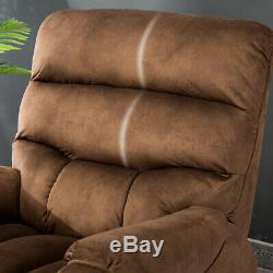 Electric Power Lift Recliner Armchair For Elderly Chair Living room WithRC -Brown