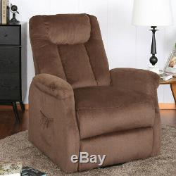 Electric Power Lift Recliner Chair Elderly Armc With Remote Control In Chocolate