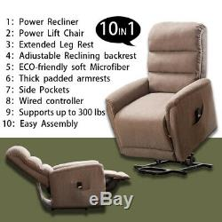 Electric Power Lift Recliner Chair Elderly Armchair WithRC Living Room 10 in 1