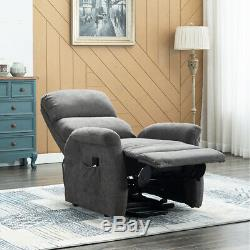 Electric Power Lift Recliner Chair Fabric Lounge Sofa Living Room for Elderly