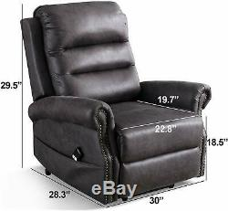 Electric Power Lift Recliner Chair For Elderly Loung Sofa With Nailhead Trim