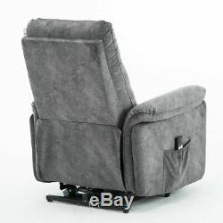 Electric Power Lift Recliner Chair For Elderly Padded Arm Seat with Remote Control