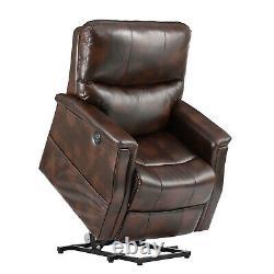 Electric Power Lift Recliner Chair Heat Massage Vibration USB Motorized Sofa