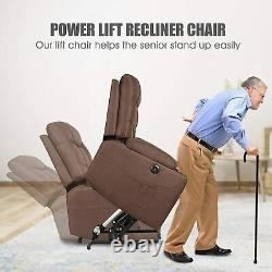 Electric Power Lift Recliner Chair Heat Vibration Massage with Control For Elderly