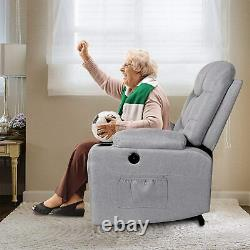 Electric Power Lift Recliner Chair Heat Vibration Massage with Remote For Elderly