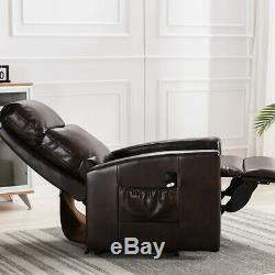 Electric Power Lift Recliner Chair Leather Sofa Any Position with RC for Elderly