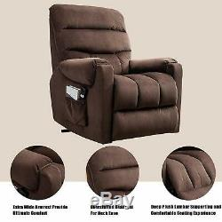 Electric Power Lift Recliner Chair Living Room Sofa Heavy Duty Motion for Eldly