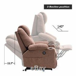 Electric Power Lift Recliner Chair Massage Chair Sofa with Heating Seat USB Part
