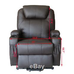 Electric Power Lift Recliner Chair Massage Sofa Vibration Heated Remote Control