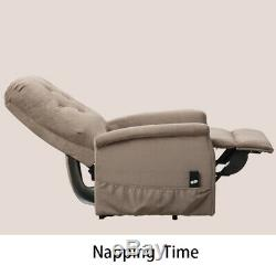 Electric Power Lift Recliner Chair Microfiber Fabric Button Armchair Lounge Seat