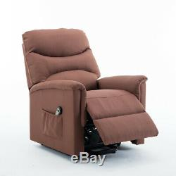 Electric Power Lift Recliner Chair Overstuffed Padded Sofa Soft Comfortable Use