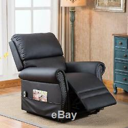 Electric Power Lift Recliner Chair PU Leather WithMassage Sofa Remote Control