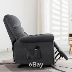 Electric Power Lift Recliner Chair Reclining Armchair Seat Chaise Living Room US