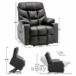 Electric Power Lift Recliner Chair Remote Dual USB Ports Cup Holders Sofa 7288