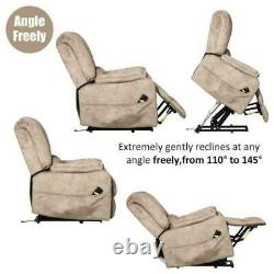 Electric Power Lift Recliner Chair Single Lounge Sofa Couch Overstuffed Elderly