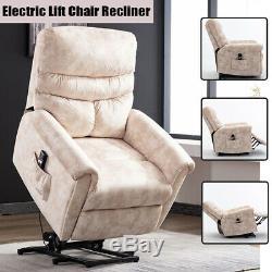 Electric Power Lift Recliner Chair Sofa Assist Elderly Reclining Armchair Chaise