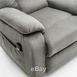 Electric Power Lift Recliner Chair Sofa Elderly Armchair Living Lounge Seat Grey