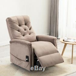 Electric Power Lift Recliner Chair Sofa Elderly Assist with a Throw Blanket Free